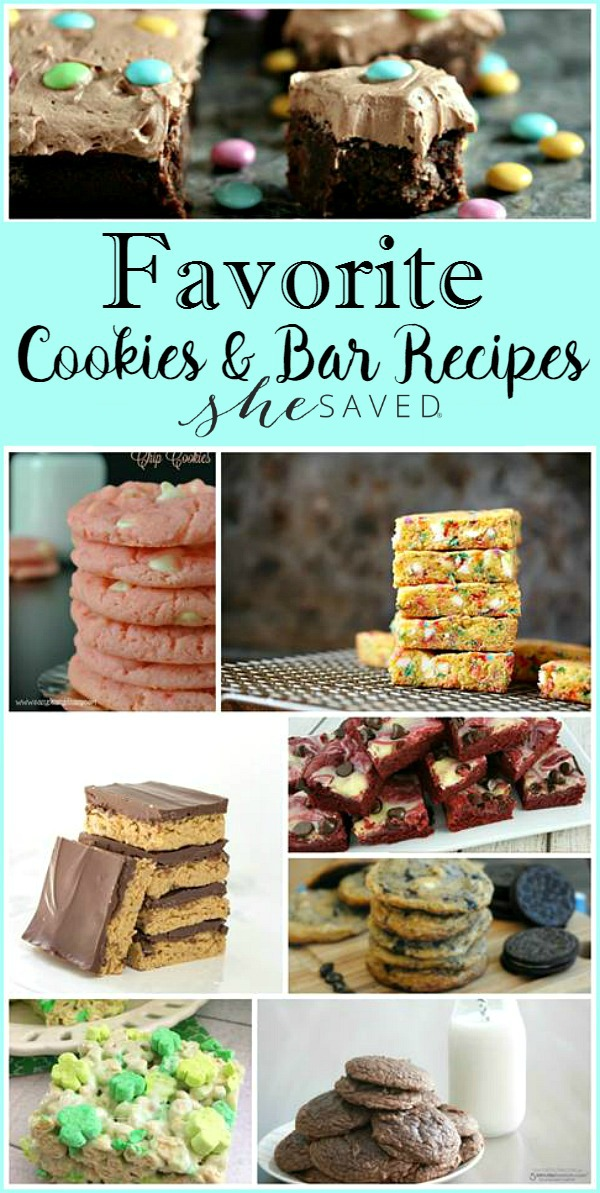 Great list of favorite cookie and bar recipes!