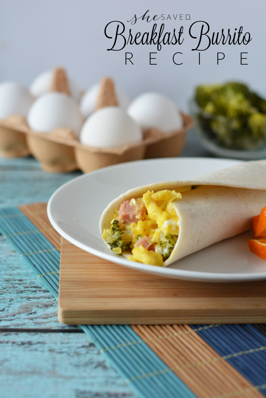This easy Breakfast Burrito Recipe is great for kids in sports and breakfast on the go!