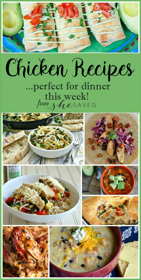 A wonderful collection of favorite chicken recipes that are perfect for lunches or family dinners!