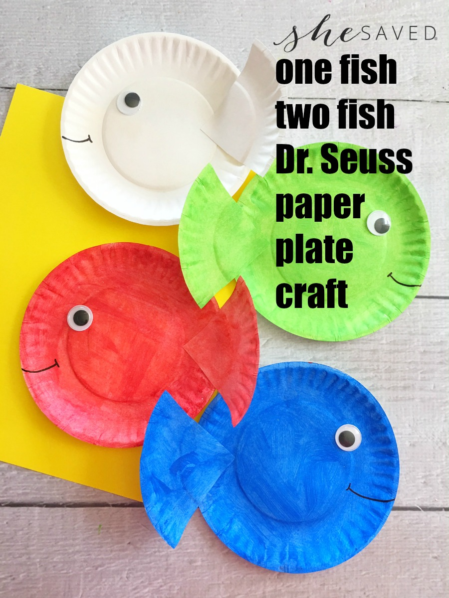 Celebrate reading with this fun One Fish Two Fish Dr. Seuss Craft for kids, they will love it!
