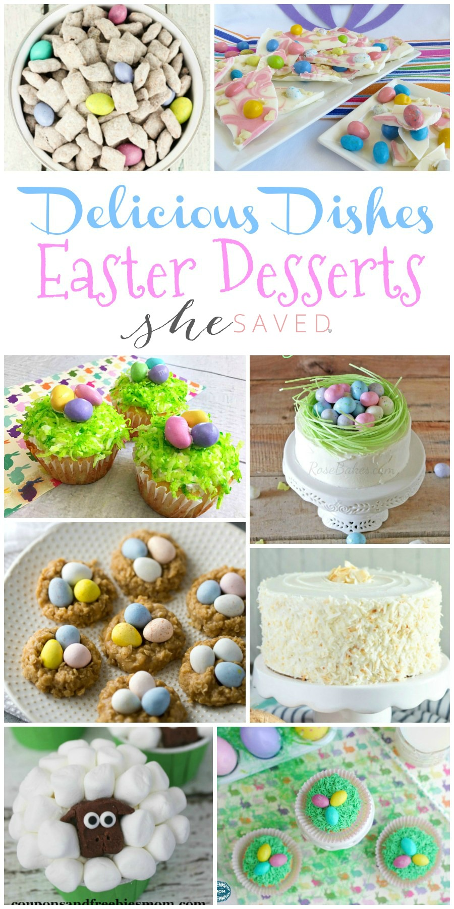 A wonderful round up of Easter desserts for your holiday celebration!