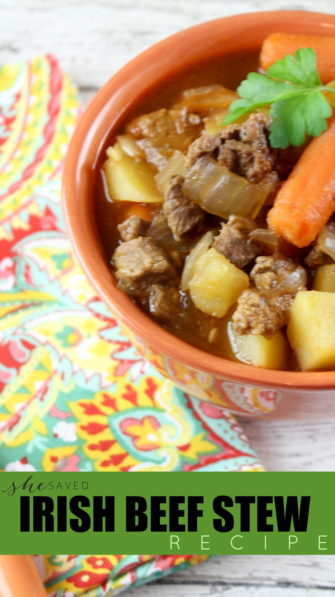 If you are looking for a delicious Irish themed meal, this Recipe for Irish Beef Stew will be a hit!