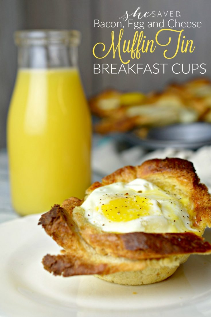 Bacon, Egg and Cheese Muffin Tin Breakfast Cups
