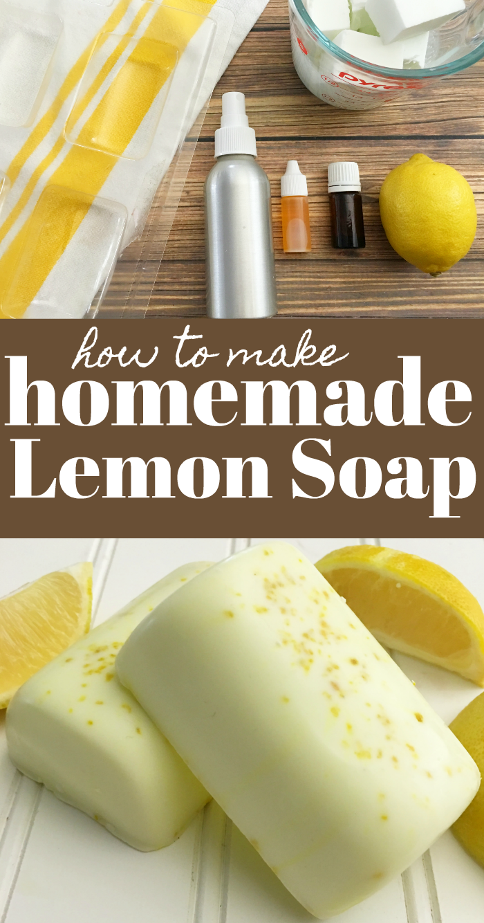 DIY homemade lemon soap recipe and tutorial