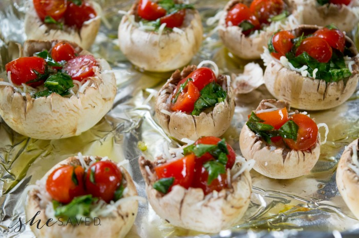 Caprese Mushrooms