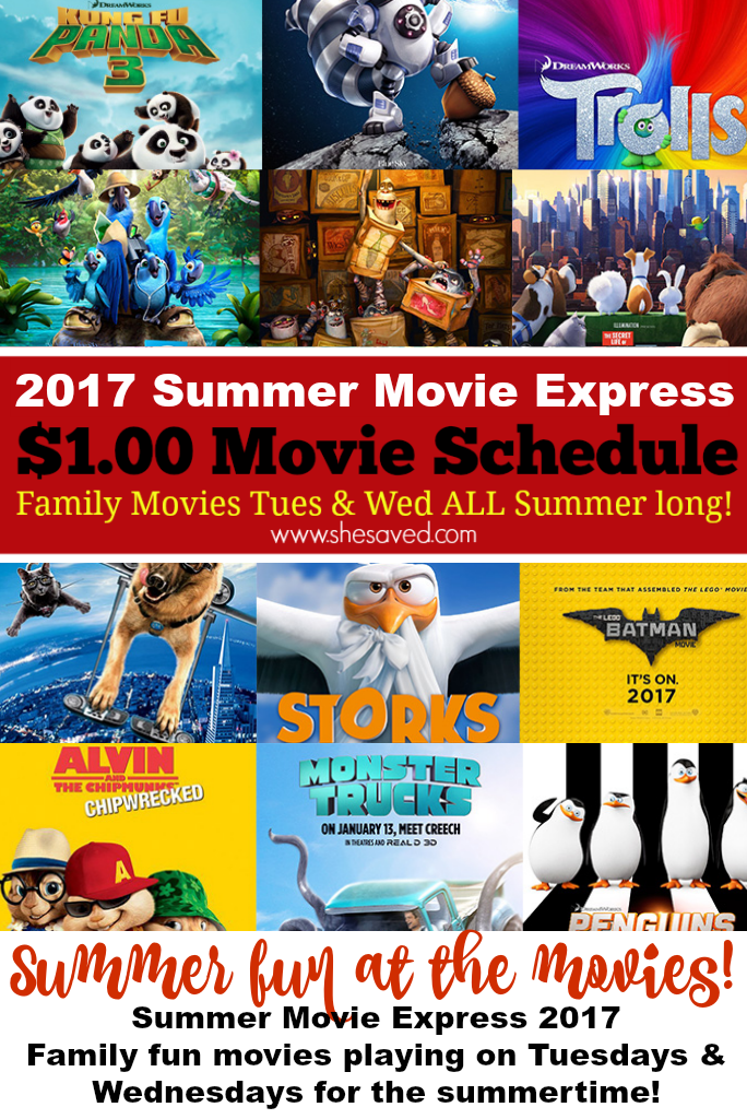 The Regal 1.00 Summer Movie Schedule is out, make sure to save it for those fun summer days!!