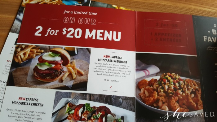 photo regarding Applebees Printable Menus known as Applebees Refreshing 2 for $20 and 2 for $25 Menu Solutions - SheSaved®