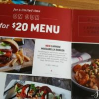Applebee's New 2 for $20 and 2 for $25 Menu Items