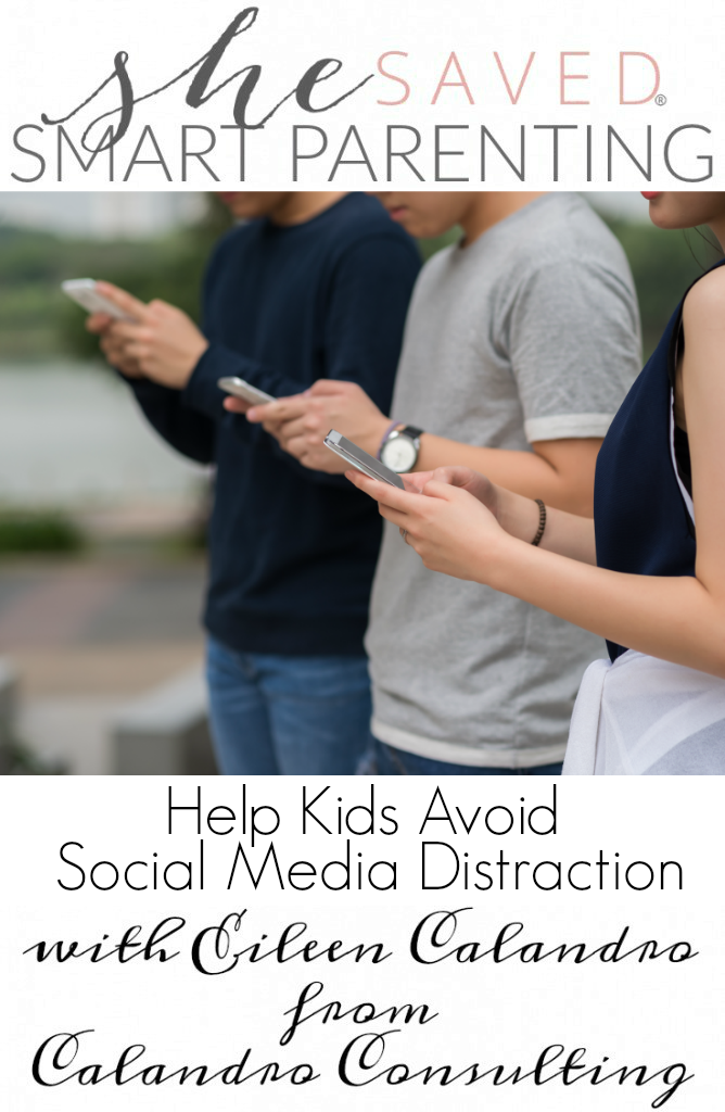 Help kids Avoid Social Media Distraction with these trips and thought provoking ideas from Eileen Calandro!