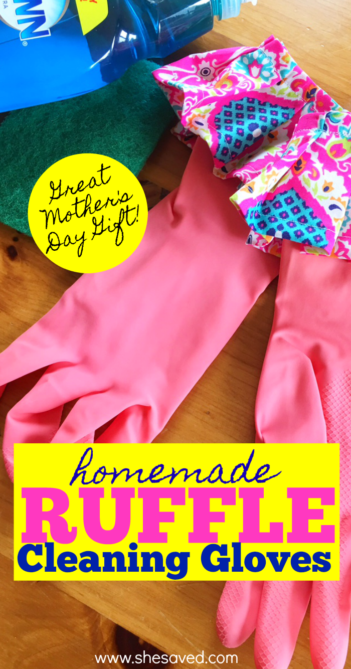 how to make homemade ruffle cleaning gloves