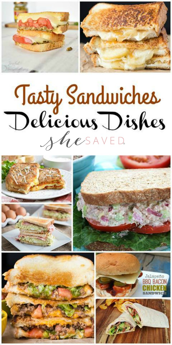 This awesome list of favorite Sandwich Recipes is perfect for summer time meals!