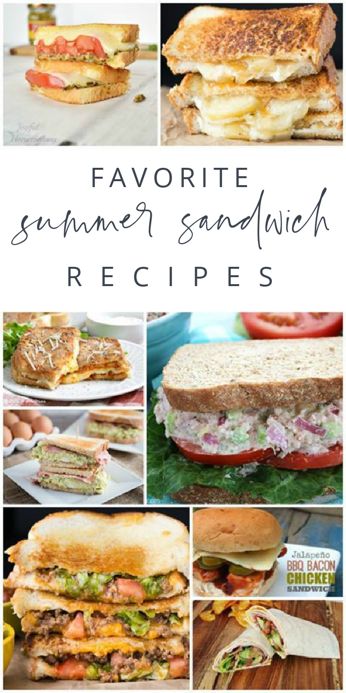 Favorite Summer Sandwich Recipe ideas and lunch creations
