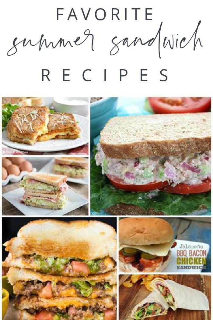 Favorite Summer Sandwich Recipes
