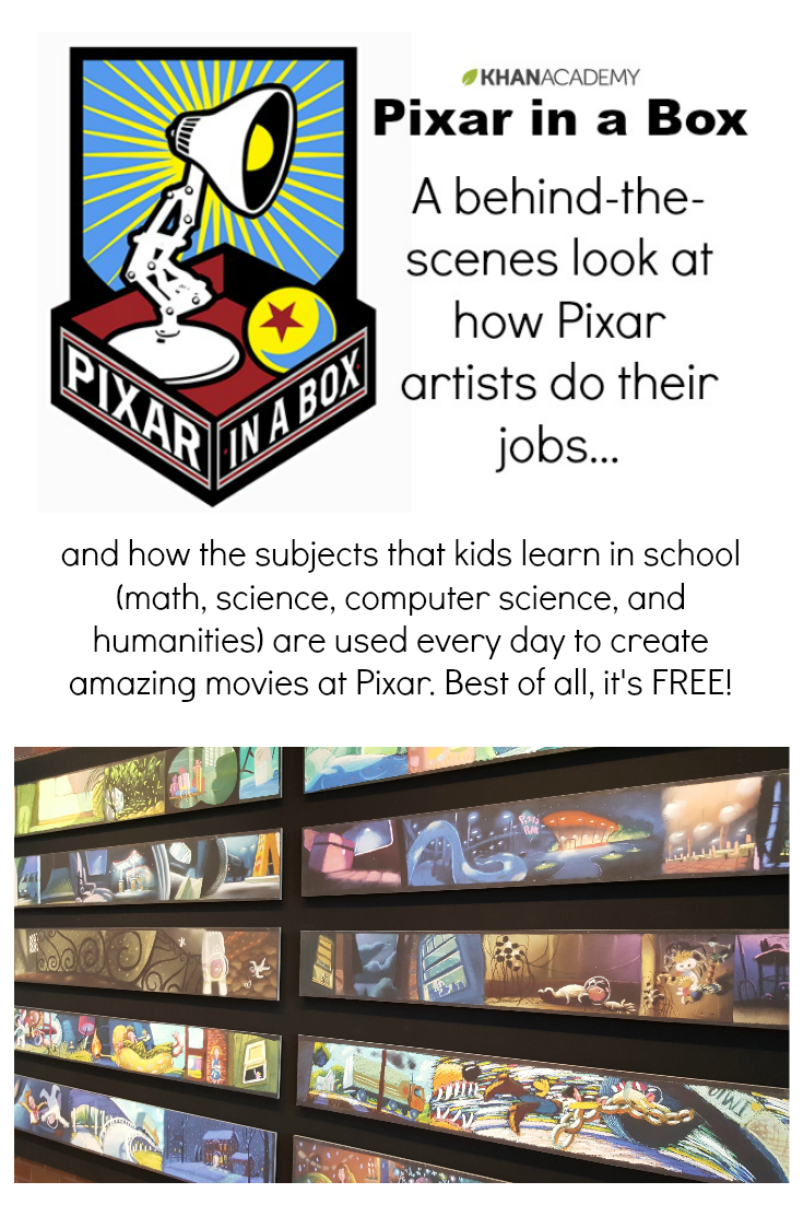 If you know a budding young artist, save this to share! Pixar in a Box is a fantastic (and FREE!) way to learn about the behind the scene things that go into making movies!