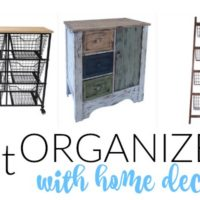 Organize with Home Decor Items (at Deep Discounts!)