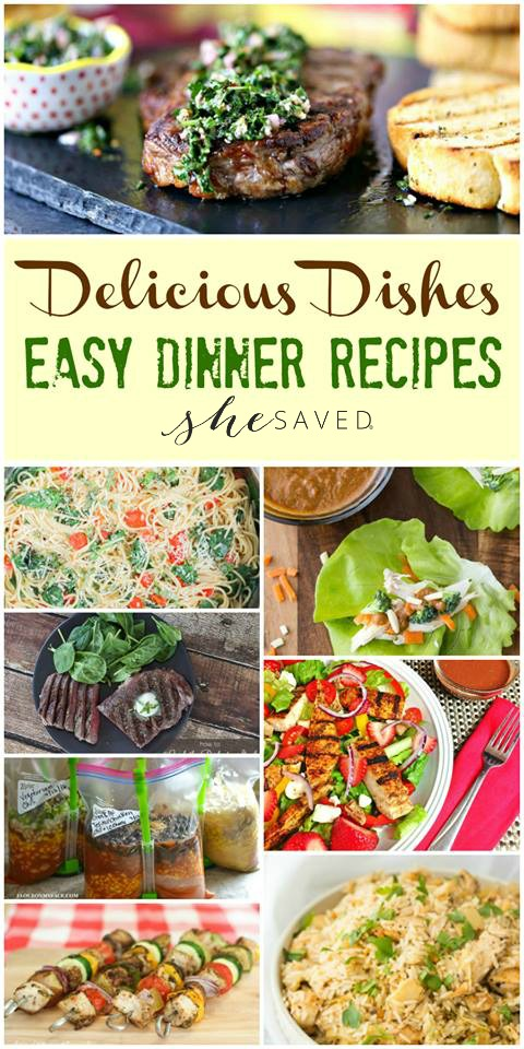 Here are some wonderful easy dinner recipes for your summer meals!