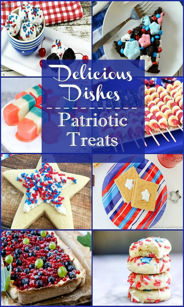 Check out this awesome round up of 4th of July desserts and patriotic treats!