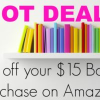 HOT!! $5 off your $15 Book Purchase!