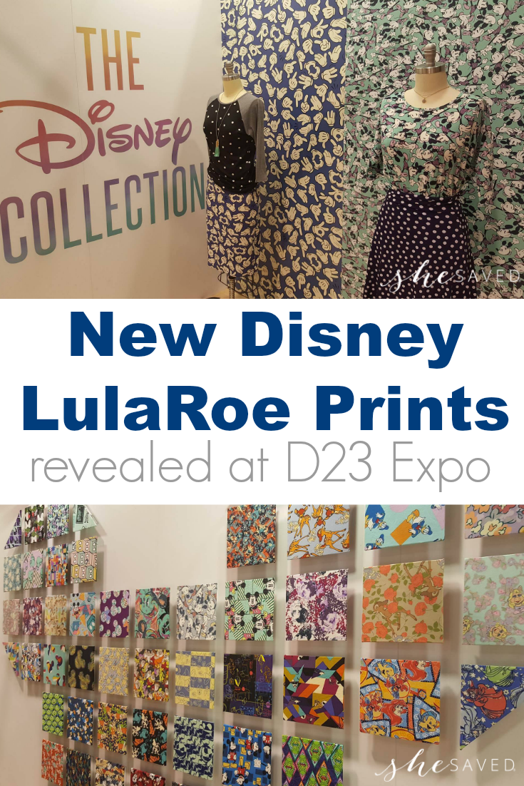 The New Disney LulaRoe Prints were recently revealed at D23 Expo in Anaheim. Here is a sneak peek!