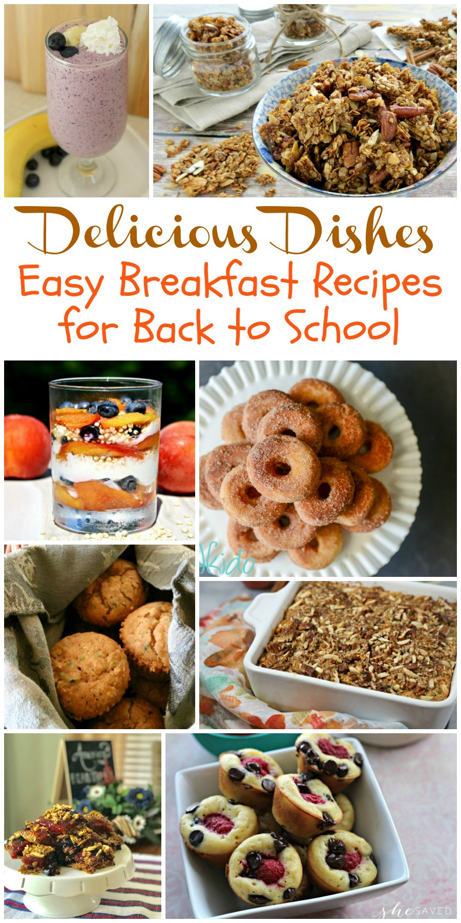 You will love these easy breakfast recipes for back to school!