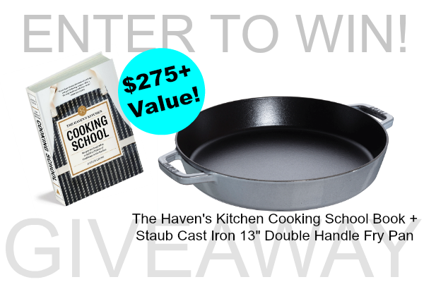 The Haven's Kitchen Cooking School Cookbook + Staub Double-Handed Fry Pan Giveaway ($275+ Value!)