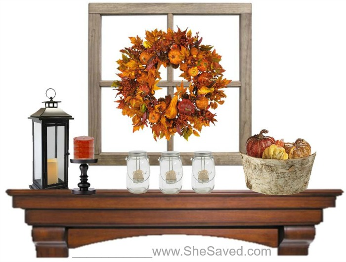 Fall mantle decor ideas how to create a beautiful fall for Over the mantle decor