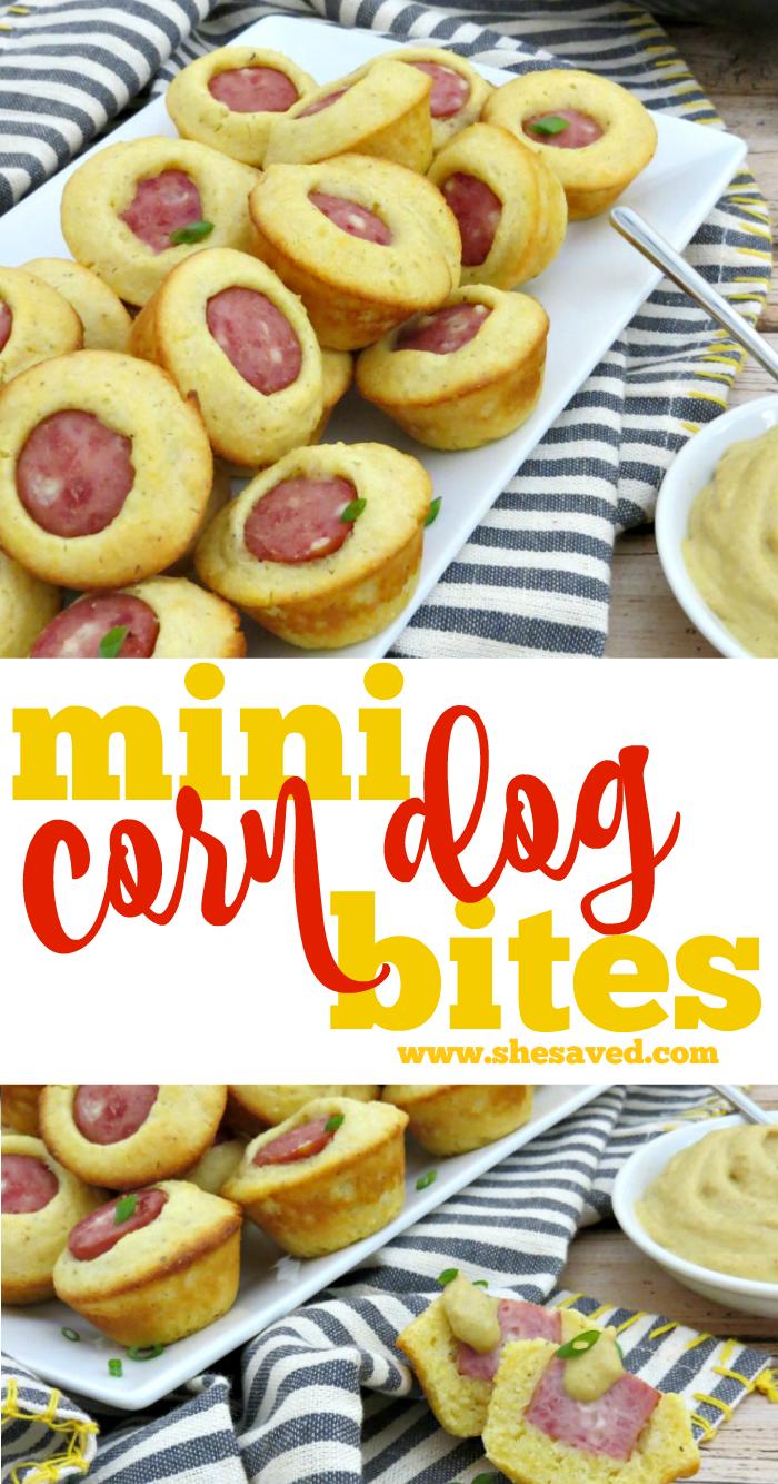 Mini Corn Dog Bites recipe