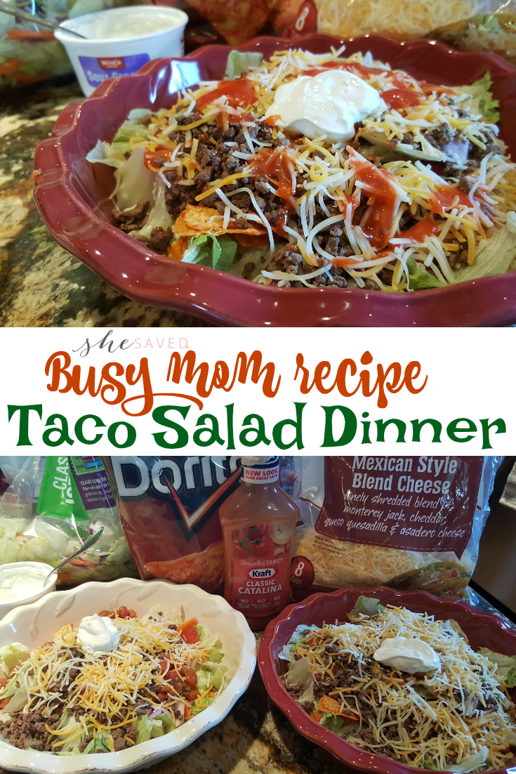 """Looking for an easy """"throw together"""" dinner? This Taco Salad dinner is IT!!"""