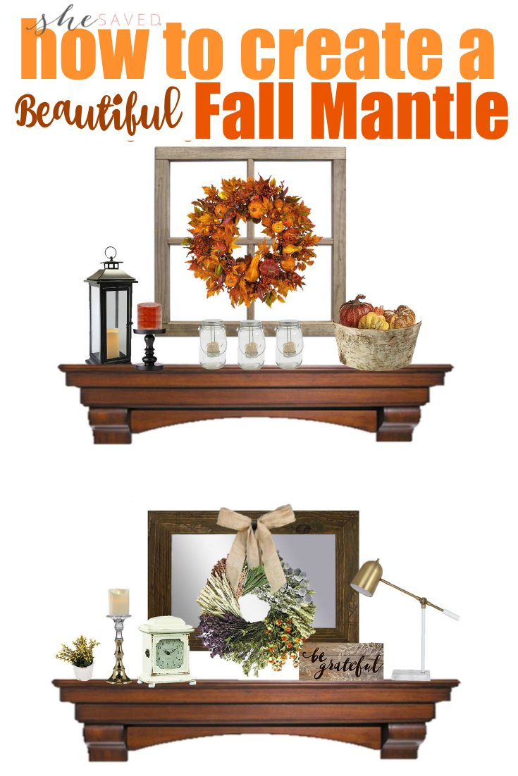 Check out this fun and affordable Fall Mantle Decor Ideas for creating a festive autumn look in your home!