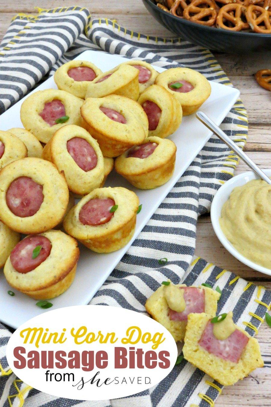 Mini Essentials: Awesome Sausage Bites | Just A Pinch Recipes |Mini Sausage Bites