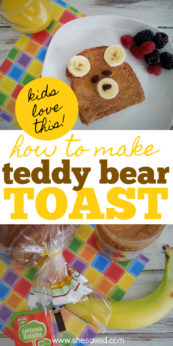 How to make teddy bear toast, a recipe that kids will love and toddlers can make!