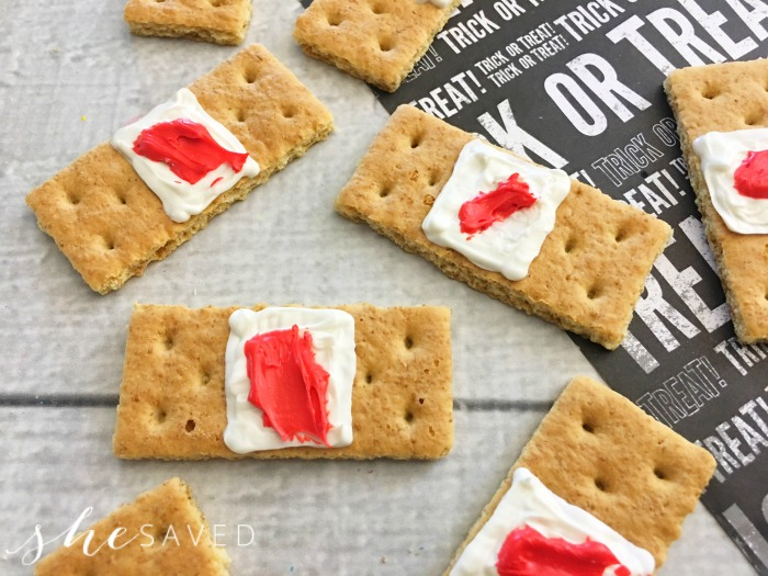 Gross Halloween Party Food: Dirty Bandaid Treats