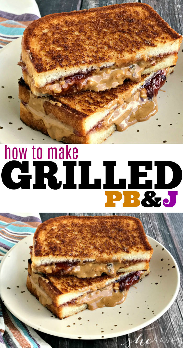 How to make Grilled Peanut Butter Jelly Sandwiches