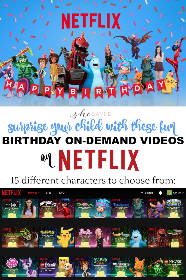 These FREE Netflix Happy Birthday Videos are the perfect way to make your child smile on their special day!