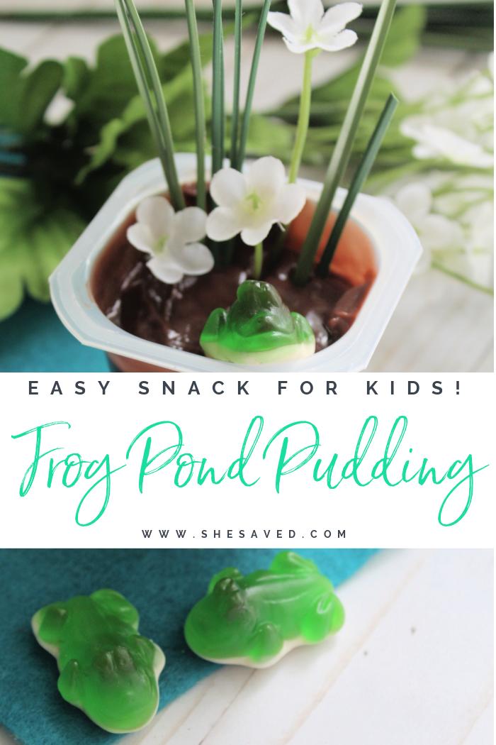 frog pond pudding snack for kids