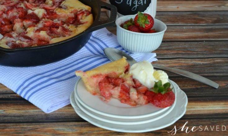 skillet strawberry cobbler recipe