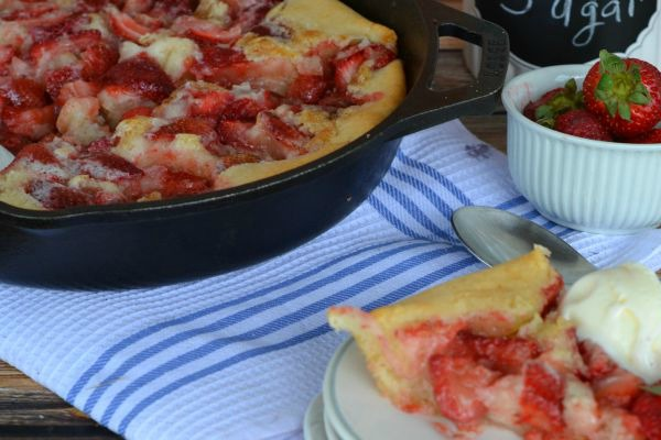 Cast Iron Skillet Strawberry Cobbler Recipe