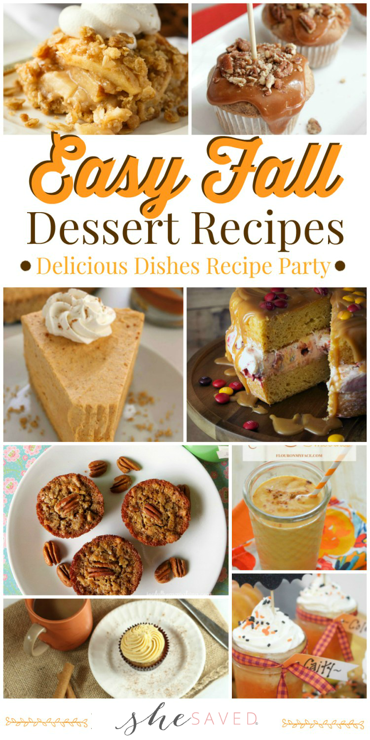 Save these favorite and easy fall dessert recipes for your festival harvest parties!