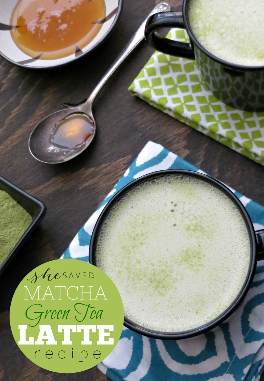 Try this antioxidant rich Matcha Green Tea Latte Recipe!
