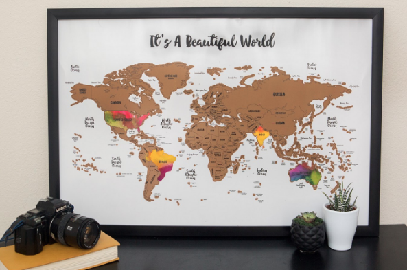 Travel fans scratch off travel map great gift idea shesaved for those of you that are world travelers there is also a scratch off world travel map on sale and you can see that here gumiabroncs Image collections