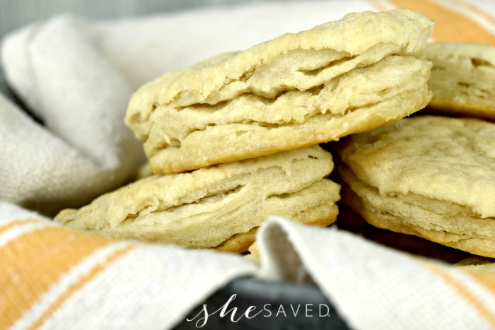 Homemade Buttery Flaky Biscuits from Scratch