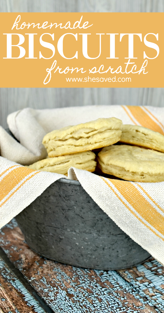Easy flaky homemade biscuits from scratch recipe
