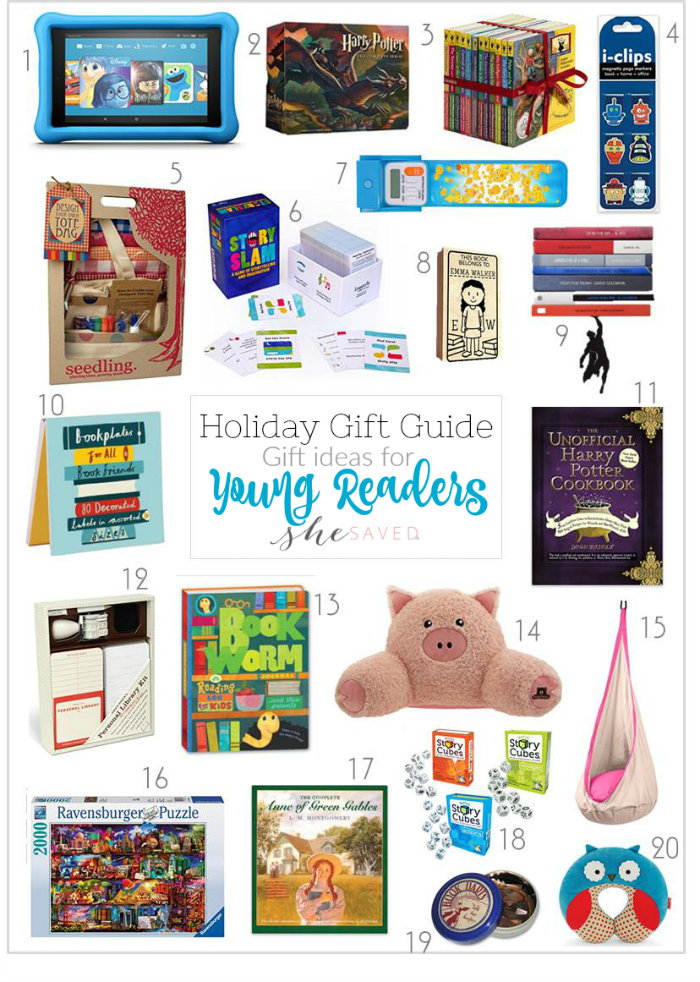 Inspire their love for reading with these gift ideas for young readers!