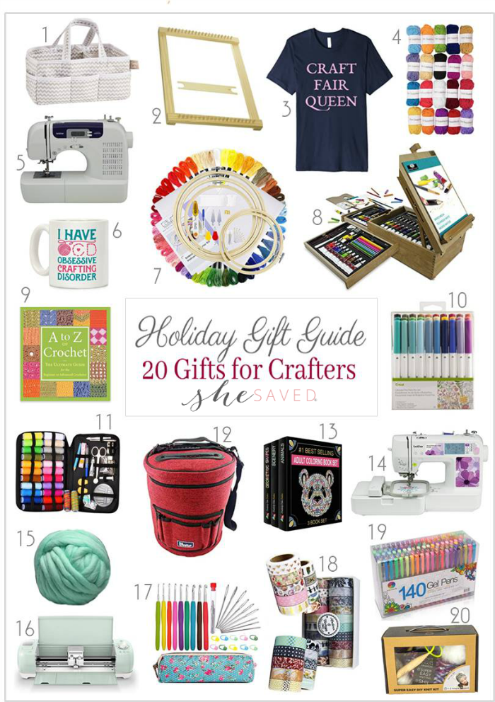 If you have someone who loves to create on your list, this round up of gifts for crafters will come in really handy!