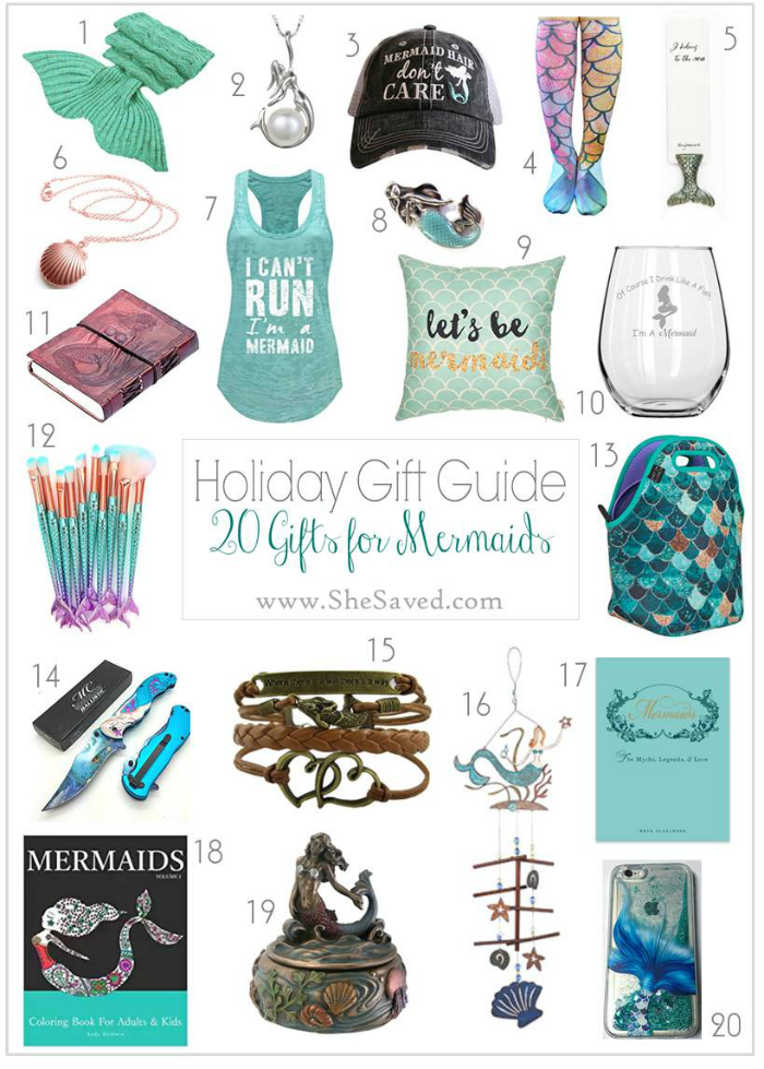 If you have a mermaid or mermaid lover on your list, here is a list of gifts perfect for mermaid lovers!