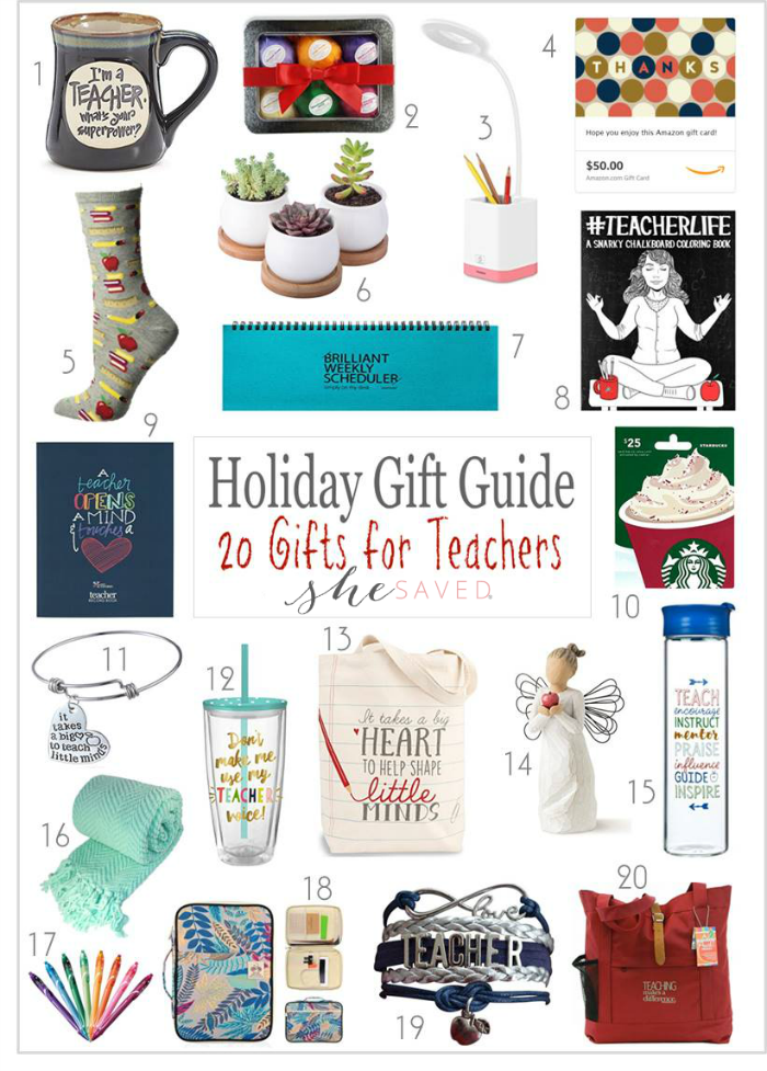 This list of gifts for teachers has some great ideas for ways to show your appreciation!