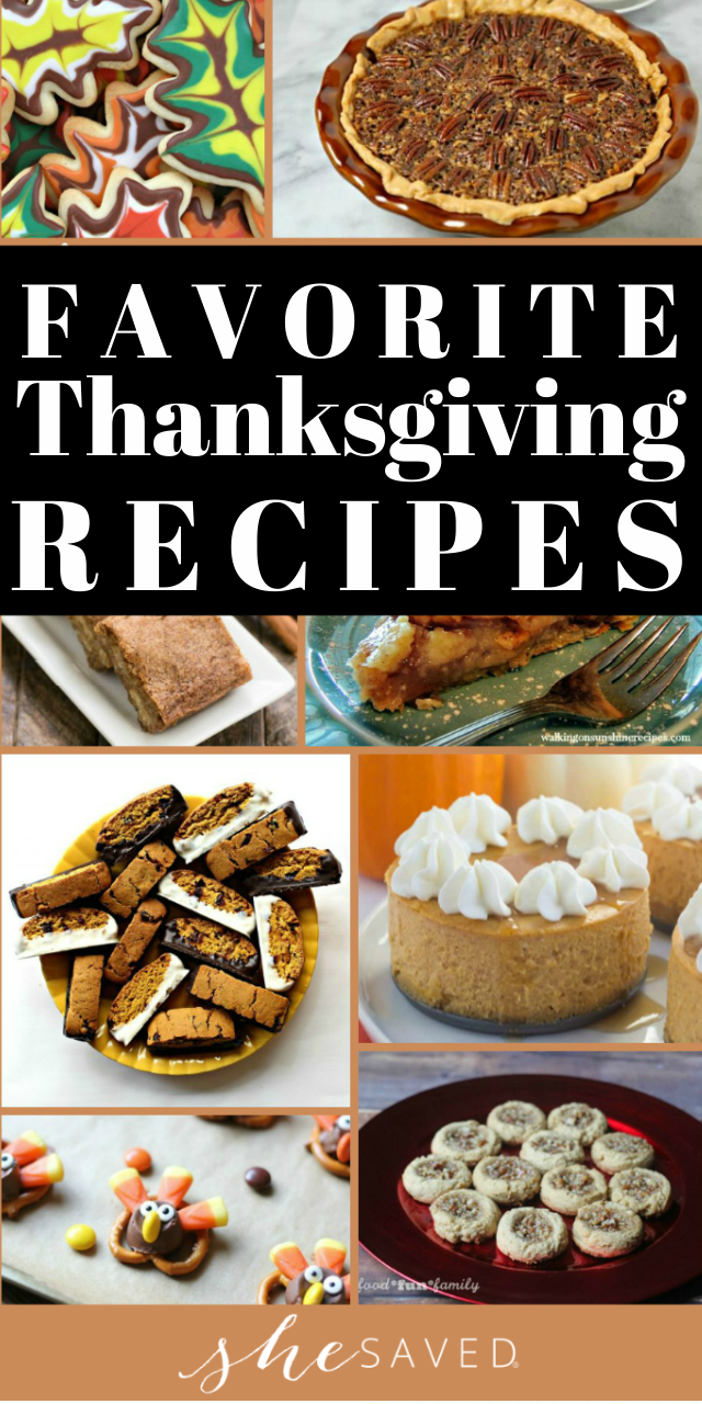 Thanksgiving Dessert Recipes for holiday meals