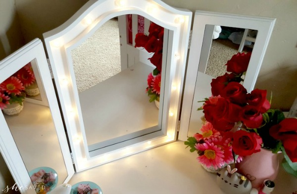 GREAT Gift Idea!! Tri-Fold Tabletop Vanity Mirror w/ LED Lights (+ $10 Off Coupon!)