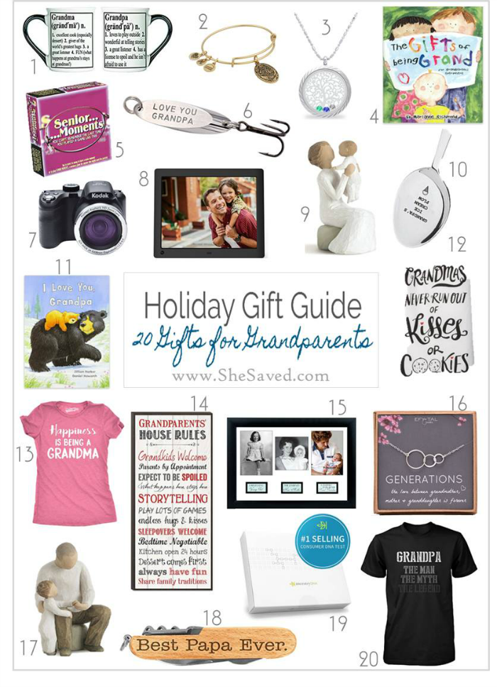 A fun list of ideas for gifts for grandparents!