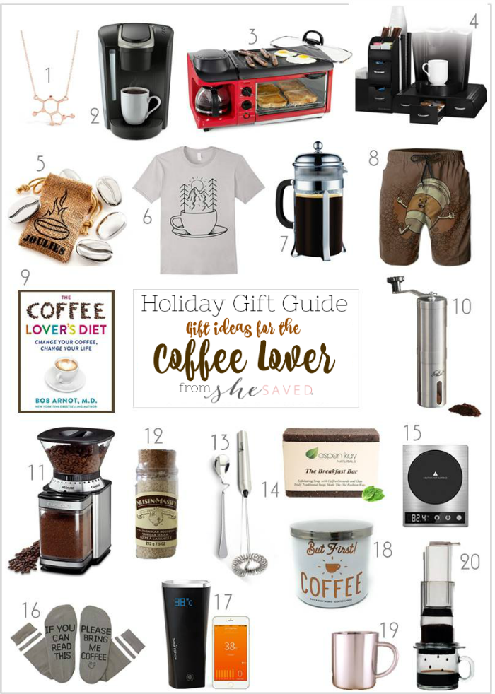 Looking for gifts for the coffee lover on your list? I've got some good ones in this gift round up!